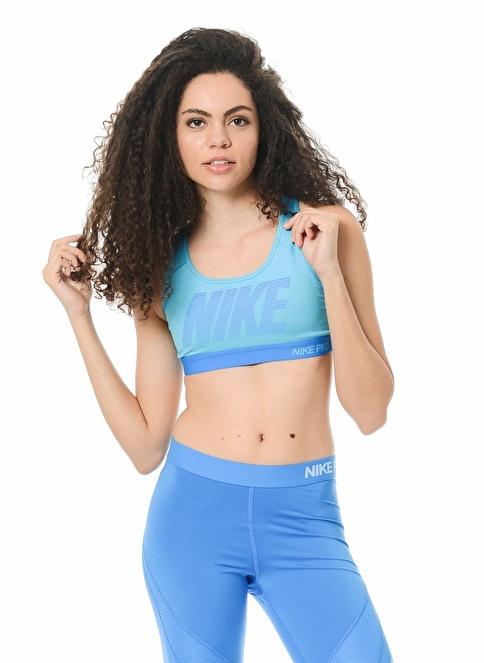 Nike Bra-Sporcu Sütyeni || Destekli Mavi